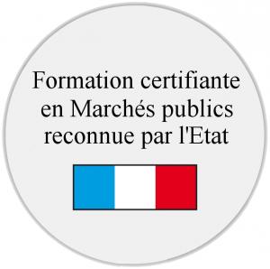 Formation certifiante en marchés publics